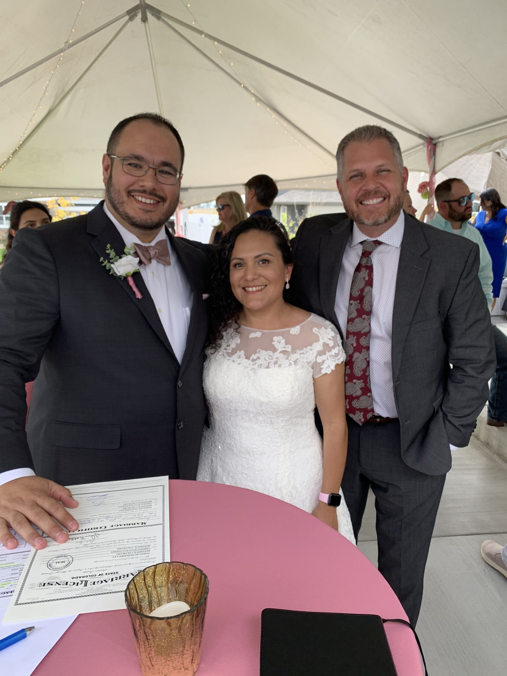 Picture of a couple with Dr. Keppen: Marriage Officiant Colorado